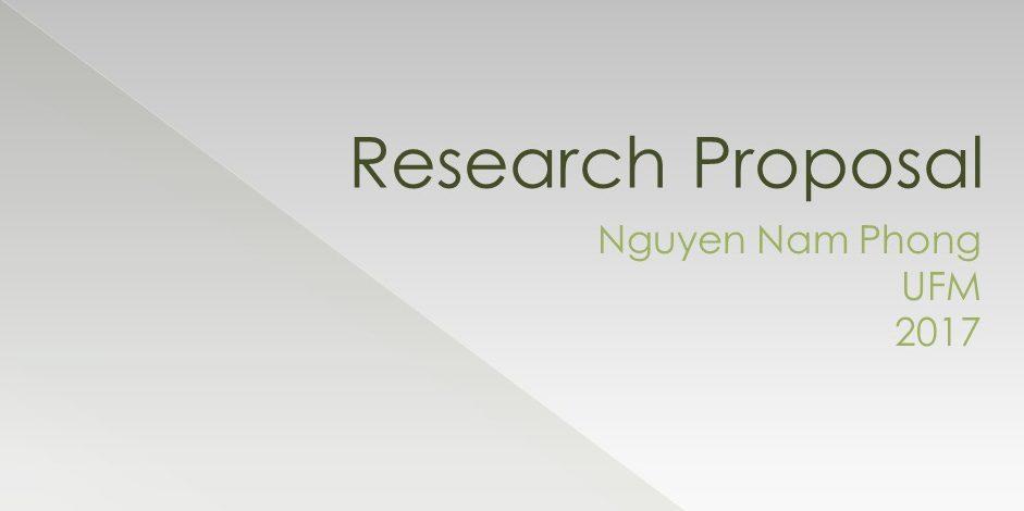 đề cương nghiên cứu